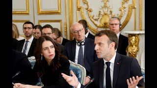 France's Emmanuel Macron and New Zealand's Jacinda Ardern on Curbing Online Hate