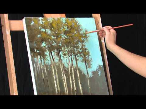Time Lapse Impressionist Oil Landscape Painting - The Grouping by Tim Gagnon