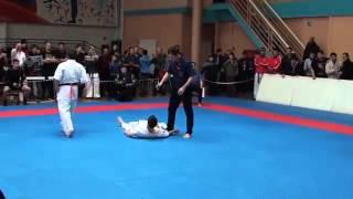 Incredible karate kick knockout