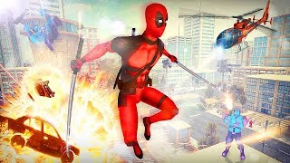 Dead Superhero: comics action game in Crime City Android Gameplay