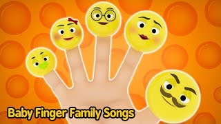 The Finger Family Song (Daddy Finger) with Lylics | Baby Smiley Face Emoji Family | Nursery Rhymes