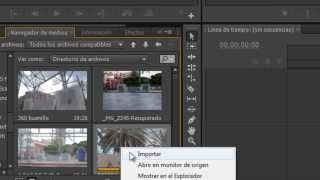 Video tutorial Adobe Premiere : Nueva secuencia desde clip.