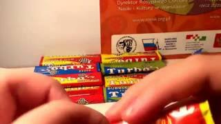 Unpacking  20 gum Turbo Super! Распаковка 20 штук жвачек Turbo Super!