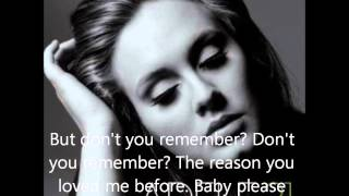 Adele Video - Don't You Remember - Adele (lyrics video)