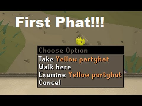 Old School Runescape 2007 First Partyhat In the Game!!!