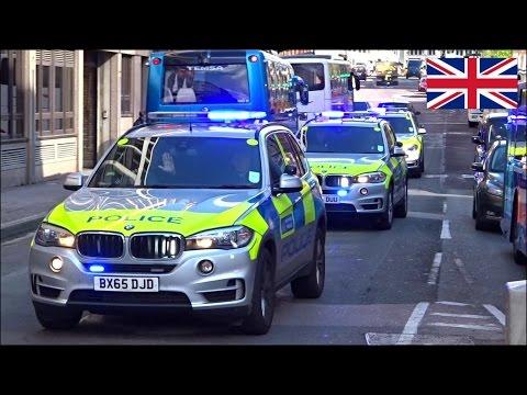 Police car responding convoy x3 - NEW Police BMW X5 Armed Response