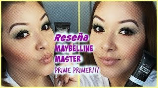 Maybelline Master Prime review / Reseña del Maybelline Master Primer Primer (prebase)