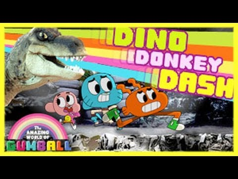 The Amazing World Of Gumball - Dino Donkey Dash - Gumball Games video