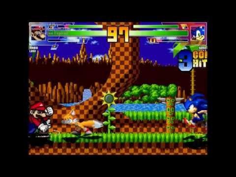 The Great Lion MUGEN Match #2- Mario & Luigi vs Sonic & Tails