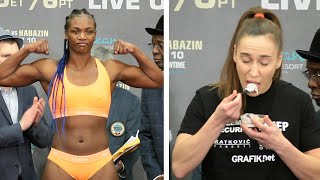 CLARESSA SHIELDS VS IVANA HABAZIN - FULL WEIGH IN AND FACE OFF VIDEO I SHOWTIME BOXING