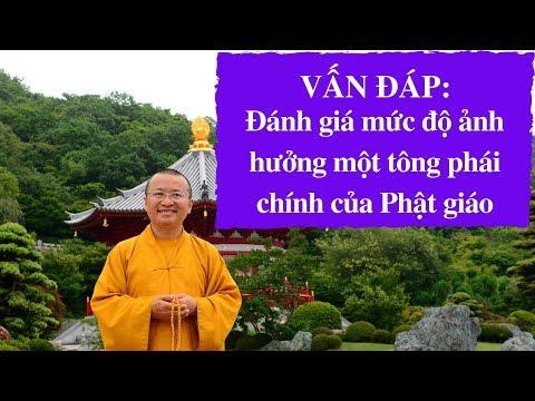 Vấn đáp: Đánh giá mức độ ảnh hưởng một tông phái chính của Phật giáo