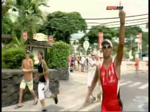 Chris McCormack And Andreas Raelert Battle In Kona 2010. Great Finish