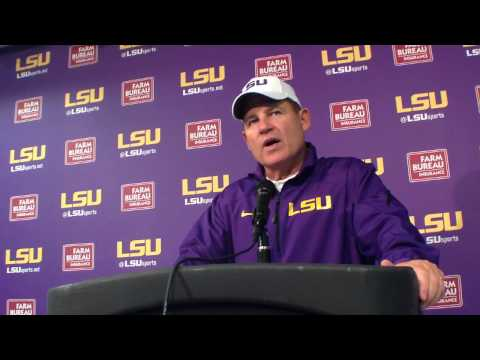 Les Miles opening comments to media 092014