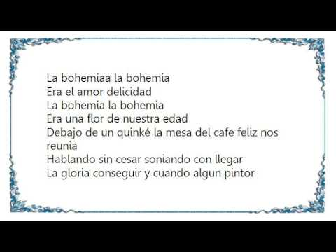 Charles Aznavour - La Bohemia Lyrics