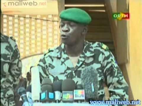 Déclaration du Capitaine Amadou Aya SANOGO à la Presse