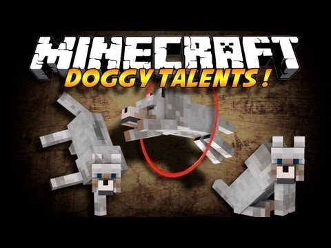 Minecraft mody 1.7.2 #56 Doggy Talents Triki psów