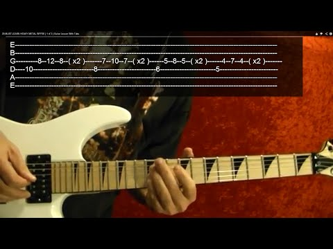 Lessons - Metal - Heavy Metal Riffs 3