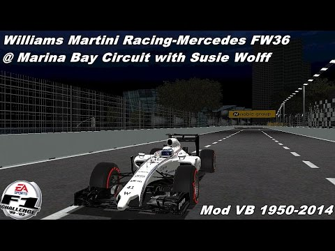 [F1C] Williams Martini Racing-Mercedes FW36 @ Marina Bay with Susie Wolff (Mod VB 1950-2014) [HD]
