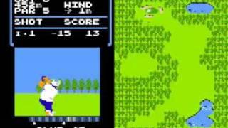 ファミコンのゴルフゲームで-40