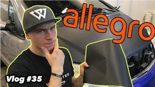 Próbuję okleić maskę chińską folią CARBON 3D z Allegro. Sprawdź jak mi poszło! - Vlog #35