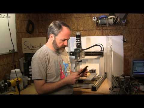 Homemade DIY CNC - KR33 mini CNC - 1st Cut (take 2:) - Neo7CNC.com