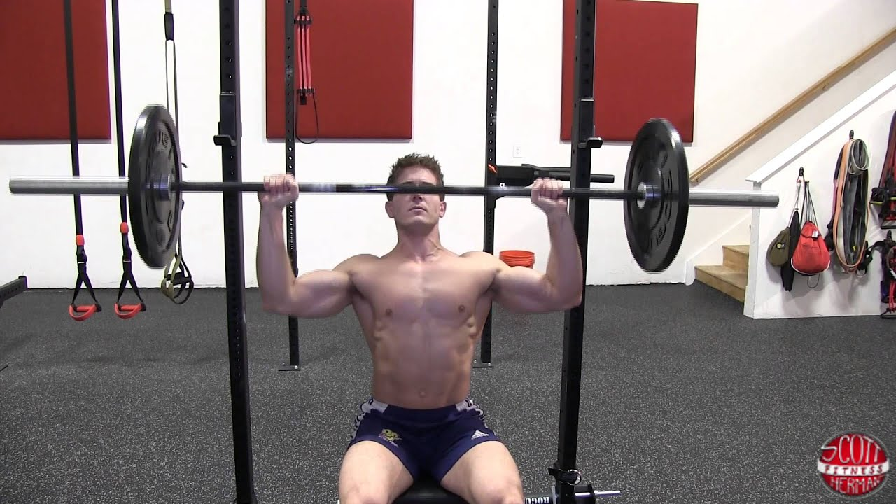 Seated Barbell Shoulder Press Form Barbell Shoulder Press