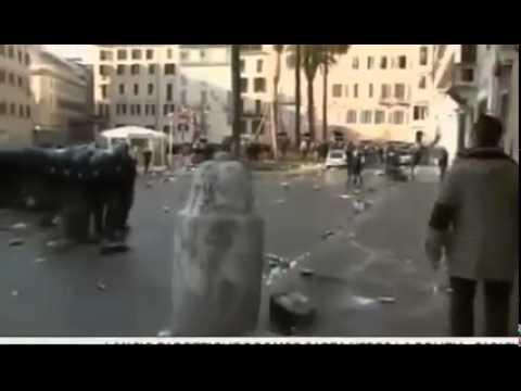 Feyenoord Hooligans fighting police in Roma 19-02-2015 AS Roma - Feyenoord