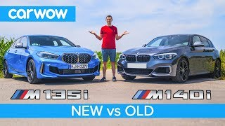 New BMW M135i vs old M140i review with 0-60mph, rolling race & brake test!