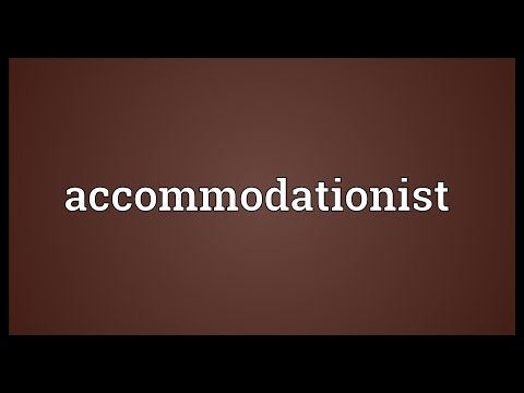 Header of Accommodationist