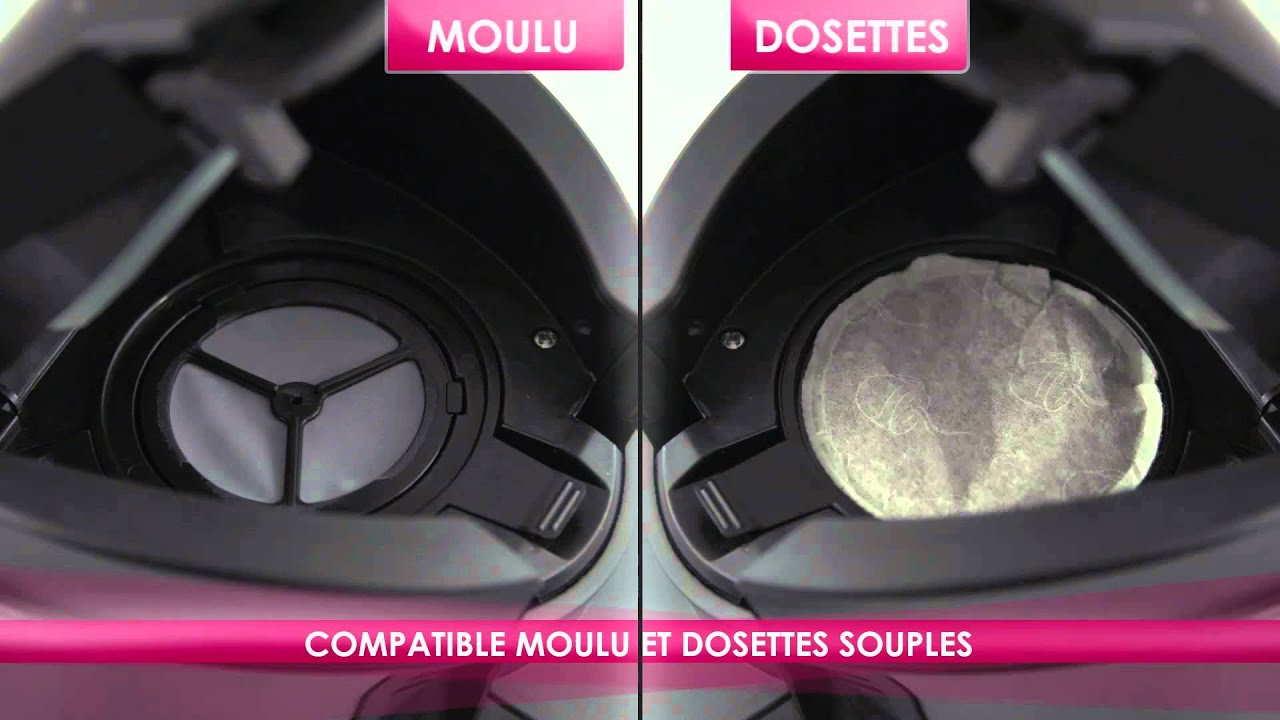 cafeti re double fonction compatible caf dosette souple et caf moulu filtre youtube