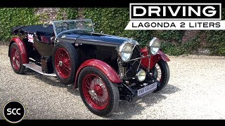 LAGONDA 2 LTR LOW CHASSIS 1928 - Full test drive in top gear - Engine sound | SCC TV
