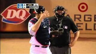 2010/06/10 Mauer's amazing catch