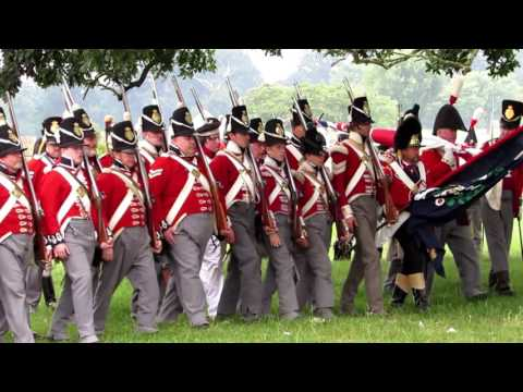Napoleonic War Battle At M5 Show Spetchley Park In Worcester