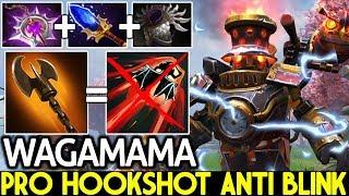 Wagamama [Clockwerk] Pro Hookshot Anti Blink Solo Mid 23 Kills 7.21 Dota 2