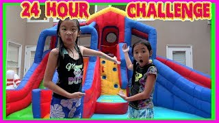 24 HOUR CHALLENGE OVERNIGHT In WATER PARK with Ryan's Toy Review Toys
