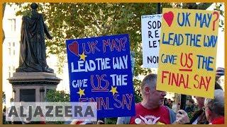 🇬🇧 Anti-Brexit protesters gather to demand second referendum | Al Jazeera English