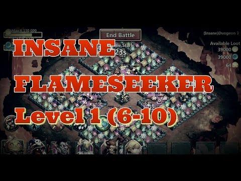 Castle Clash Insane Flameseeker Level 1 (6-10) Insane Dungeons!
