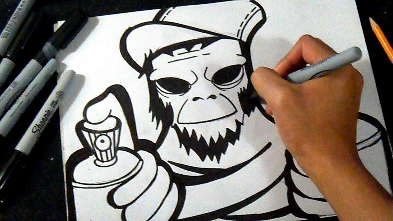 Научиться рисовать граффити на бумаге поэтапно