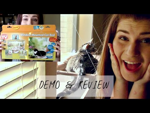 WINDOW MOUNTED CAT BED AS SEEN ON TV REVIEW & DEMO