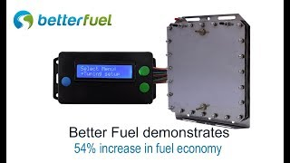 54% increase in fuel economy with hydrogen hho generator and ProTuner sensor controller