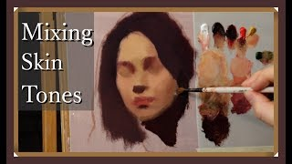 The Daily Yupari   MIXING OIL PAINT COLORS - Color Study 1