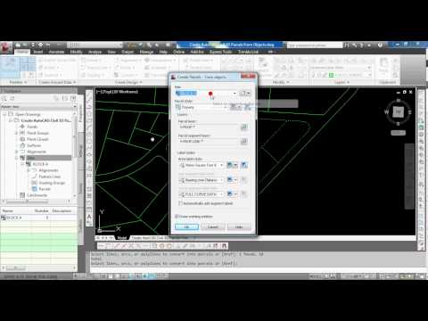 Create AutoCAD Civil 3D Parcels From Objects
