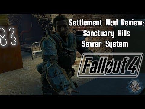 Fallout 4 Settlement Mod Review:  Sanctuary Hills Sewer System Build