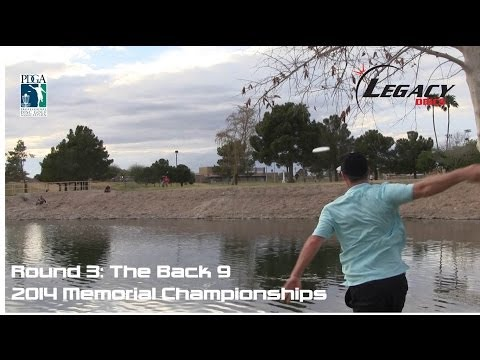 The Disc Golf Guy - Vlog #201 - Memorial Rnd 3 Holes 10-18: Roan, Doss, Leiviska, Gibson