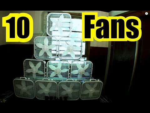 10 FANS for 10 HOURS !!!  Deep Sleep ~ White Noise ~ Box Fan