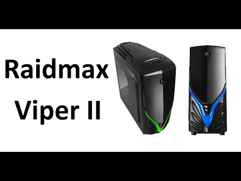 Raidmax Viper II atx tower unboxing and review