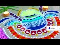 NEW sankranthi bhogi kundalu || pongal pot rangoli 2018 || special pongal pot kolam for COMPETITION! #4