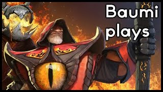 Dota 2 10v10 | 10 NECRO BOOKS IN ONE TEAM = INSANE!! | Baumi plays Warlock