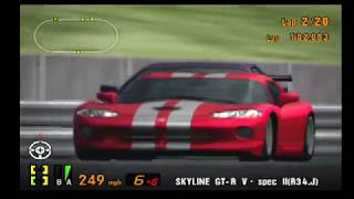 Gran Turismo 3 Like the Wind! Skyline GT-R V-Spec II(R34) Great Car! Great Race! All vs the GT-One!