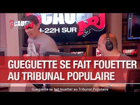 Gueguette se fait fouetter au Tribunal Populaire  C'Cauet sur NRJ